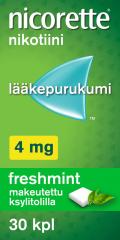 NICORETTE FRESHMINT 4 mg lääkepurukumi 30 fol