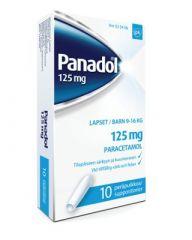 PANADOL 125 mg peräpuikko 10 kpl